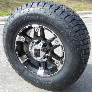 17 KMC XD Spy Wheels 33 Nitto Terra Grappler Tires 6 Lug 6x5 5 Chevy