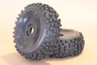 RC 1 8 Car Buggy Truck Tires Wheels Rims Package Dish Knobby
