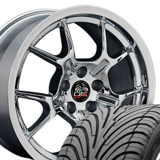 18 Rim Fits Mustang® GT4 Wheels and Tires 2005 Chrome 18x9