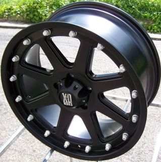 20 BLACK XD SERIES ADDICT WHEELS RIMS 8X6.5 +18MM DODGE RAM 2500 3500