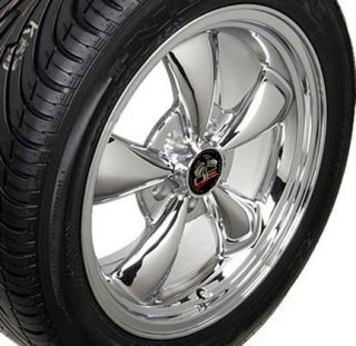 Chrome Bullitt Bullet Style Wheels Rims Tires 17x8 Fits Mustang® GT