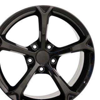 18 Corvette C6 ZR1 Black Wheels Set of 4 Rims Fit Chevrolet