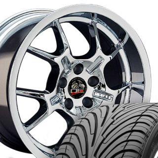 18 9 10 Chrome GT4 Wheels Nexen ZR Tires Rims Fit Mustang® GT 94 04