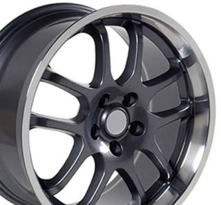 Gunmetal G35 Infiniti Style Spoke 18x9 Wheels Rims Fit Nissan