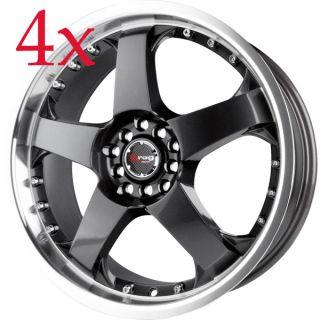 Drag Wheels Dr 11 17x7 4x100 4x114 3 Gun Metal Rim Altima Centra Neon
