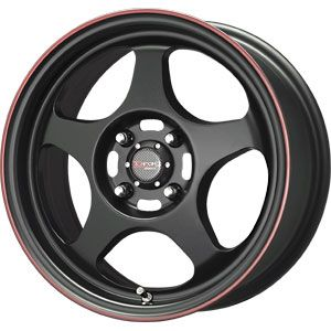 New 15x6 5 4x100 Drag Dr 23 Black Wheel Rim