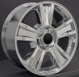 20 Chrome Tahoe Wheels Goodyear LS2 Tires Rims Fit GMC Chevrolet