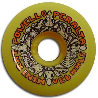 Powell Peralta Mini Rats Skateboard Wheels 57mm 93A Yellow
