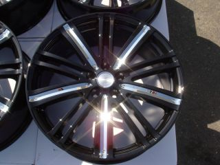 20 Effect Wheels Black Rims Acura MDX Dodge Nitro Ford Edge Accord