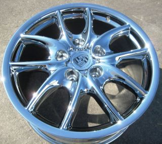New 19 Factory Porsche Cayenne s Turbo Tourag Chrome Wheels Rims Set