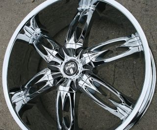NASTY S157 24 CHROME RIMS WHEELS GMC ACADIA 07 up / 24 x 9.5 6H +30