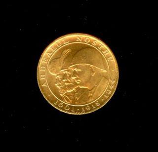 1944 Gold Romania 20 Lei World War II Issue Three Kings Coin