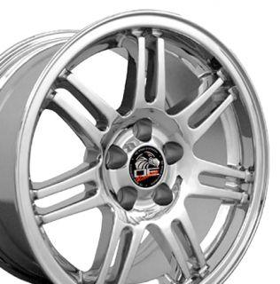 17 x9 10 Chrome Fit Mustang® GT Cobra R Rims Deep Dish