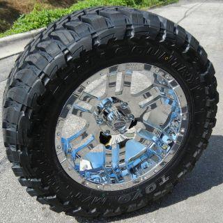20 CHROME MOTO METAL 951 WHEELS & 33 TOYO MT TIRES FORD F150