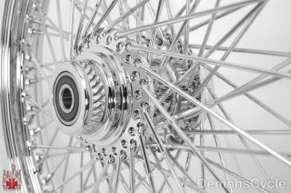 21X2 15 Tubeless Chrome Custom Front Wheel 80 Spokes Billet Hub Rim