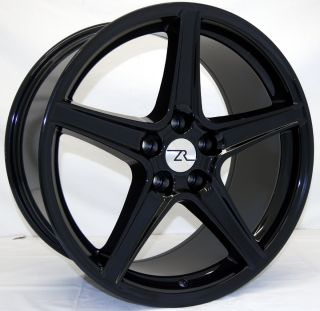 Black Mustang ® Wheels fits Saleen 19 Replica 1994 2013 19 inch rims