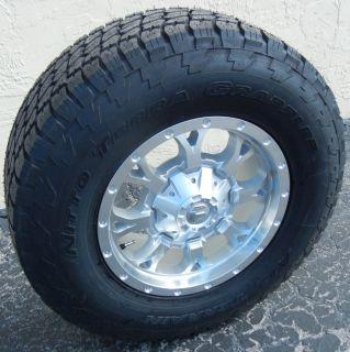 17 Silver Fuel Krank Wheels Nitto Terra Grappler Tires Jeep Wrangler