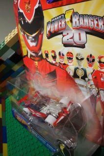 Hot Wheels Red Mega Strike Racer Power Rangers Megaforce 20th Anniv