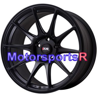 18 XXR 527 Flat Black Concave Staggered Rims Wheel Stance 93 98 Toyota