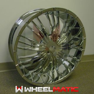 of 4 New 24 5x127 135 Player Limited L999 Chrome Wheels Rims