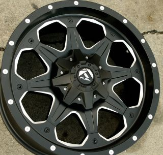 Fuel Boost D534 20 Black Rims Wheels Silverado 3500 11 Up 20 x 9 0 8H