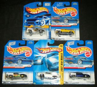 Mustang Hot Wheels 1999 First Edition Two 1998 First Editions 2007 New
