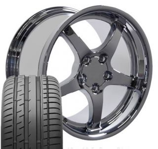 17 18 9 5 10 5 Chrome Corvette C5 Style Wheels Conti Tires Rims Fit
