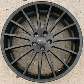 Martuni 22 Black Rims Wheels FX35 FX45 03 Up 22 x 9 0 5H 38