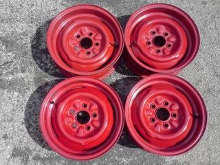 Four 1969 Ford Mustang Steel Wheels Rims