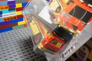 Wheels Red Back Slider Diecast Track Transport Hauler Truck HW City 46