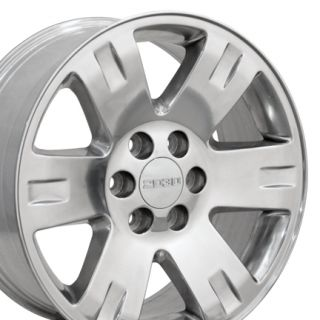 20 Polished Yukon Wheels 20 x 8 5 Rims Fit GMC Chevrolet Cadillac Set