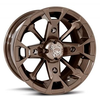 MSA M17 Elixir Bronze 14x7 ATV wheels / Rims Can Am Outlander 400/650