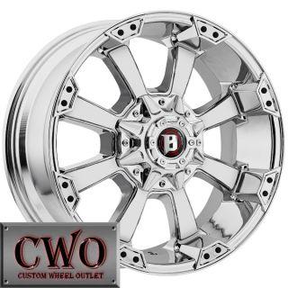 18 Chrome Ballistic Morax Wheels 5x135 5x139 7 5 Lug F 150 Expedition