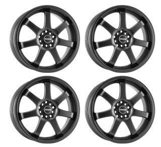 DR35 17 Rims Flat Black 4 Lugs 42 Offset Wheels Rim