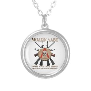 Molon Labe   Spartan Shield Personalized Necklace