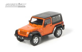 Jeep Wrangler Rubicon 4WD in Display Case Crush Orange 1 43 New
