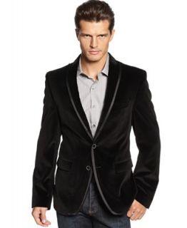 Tallia Orange Jacket, Black Velvet Jacket