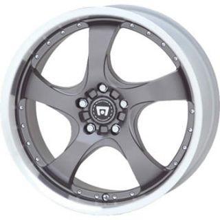 17x7 Silver Motegi DV5 Wheels 4x100 +42 HONDA FIT CIVIC SI CIVIC