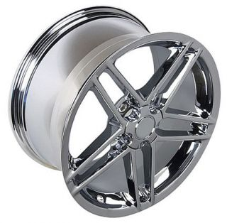 17x9 5 Chrome C6 Z06 Style Wheels Rims Tires Fits Camaro