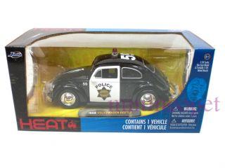 Jada Heat 1959 59 VW Volkswagen Beetle 1 24 Police Car