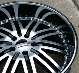 MENZARI Z08 20 BLACK RIMS WHEELS INFINITI M35 STAGGERED / 20 X 8.5/10