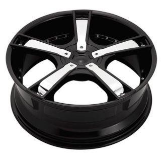 Tires Wheels Starr 663 Bones Black Chrome Infiniti 22 24 26 28