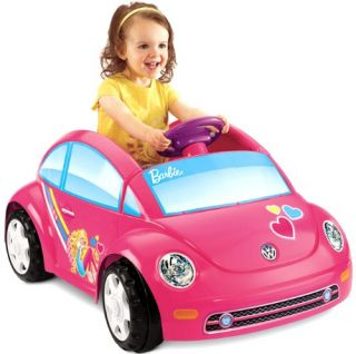 Fisher Price Power Wheels Barbie Volkswagen New Beetle