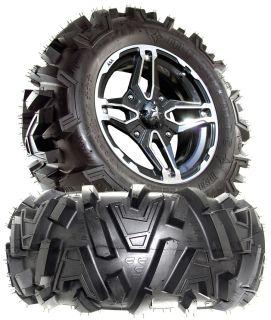 MSA M15 Crusher 14X7 ATV Wheels on 28 Motomtc Tires for Polaris RZR