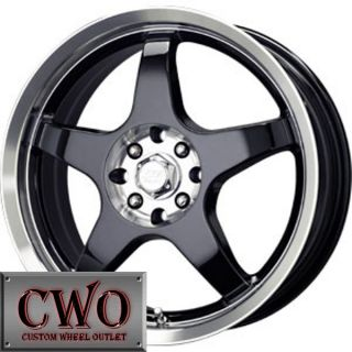 17 Black MB Five x Wheels Rims 5x100 5x114 3 5 Lug Civic Mazda 3 6 WRX