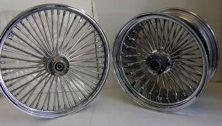Chrome Mammoth Fat Spoke Wheels Harley 21x3 0 18x8 5 Chopper 250 Tire