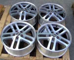 02 05 Cavalier 16x6 Aluminum Wheels Set of 4 Rims