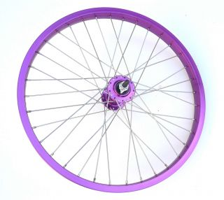 New BMX Bike Bicycle 20 x1 75 Rims Wheels Set Purple