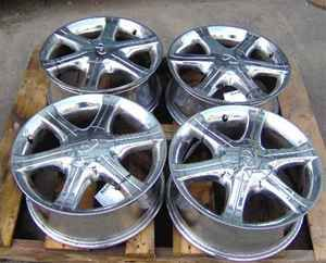 02 04 Infiniti I35 17x7 Chrome Wheel Set of 4 Rims