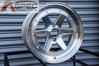 15X7 ROTA CK RACING 4X100 +35 FULL ROYAL SILVER WHEEL FITS HONDA CIVIC
